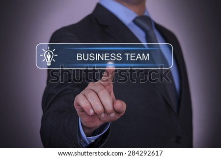 Businessman Selecting Business Team - stock photo