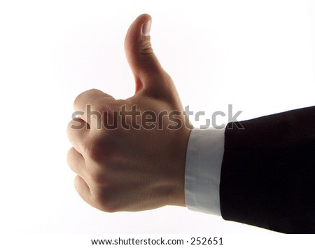 "businessman showing ""good job"" - stock photo"