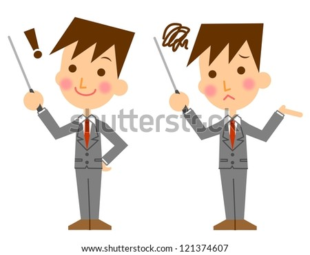 Businessman stick - stock photo