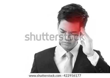 businessman suffering from headache - stock photo