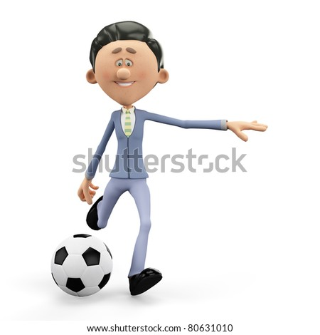 businessman the football manager - stock photo