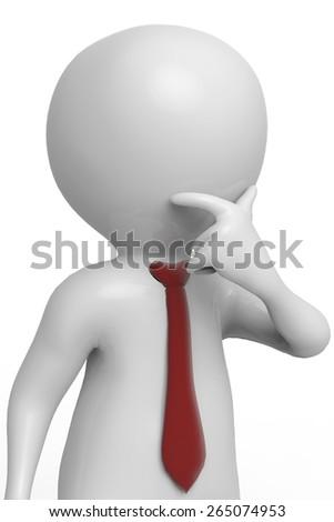 businessman thinking close up - stock photo