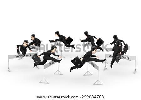 Businessman turns in circles - stock photo