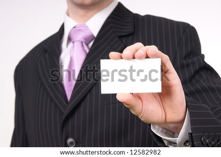 businessman with a cart - stock photo