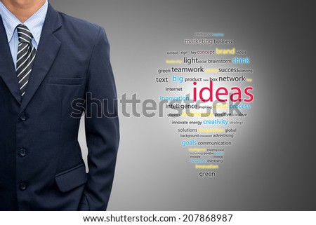 Businessman with a new idea. - stock photo