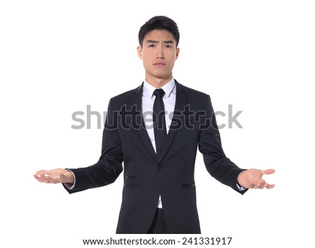 businessman with doubt gesture - stock photo