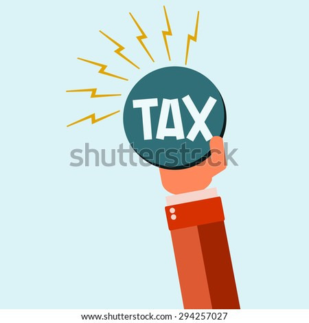 Businessman with Huge Tax Bomb - stock photo