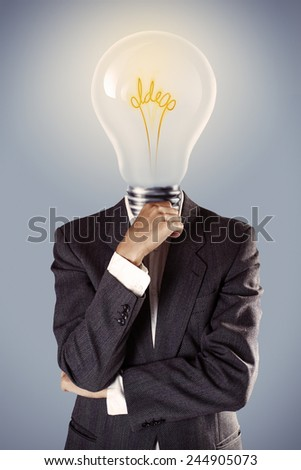 Businessman with idea concept - stock photo