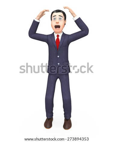 Businessman With Problem Showing Difficult Situation And Complication - stock photo