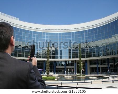 Businessman working - stock photo