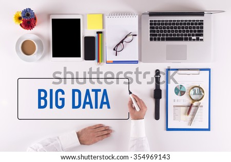 Businessman Writing the Words BIG DATA Concept - stock photo