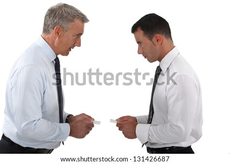 Businessmen arguing - stock photo