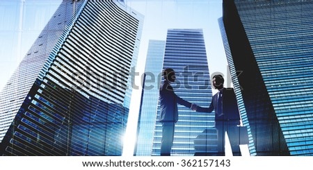 Businessmen Deal Business Handshake Greeting Concept - stock photo