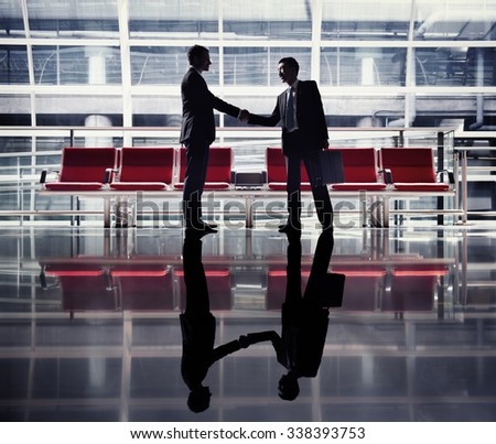 Businessmen Handshake Contract Greeting Business Concept - stock photo