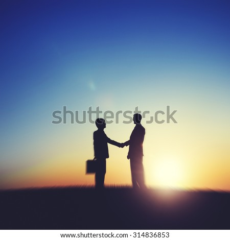 Businessmen Handshake Deal Business Partnership Concept - stock photo