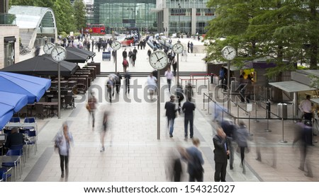 businessmen hurrying for afternoon tea - stock photo