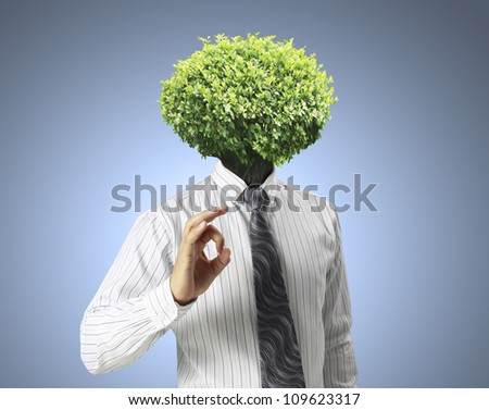 businessmen ,Ideas Head Trees - stock photo