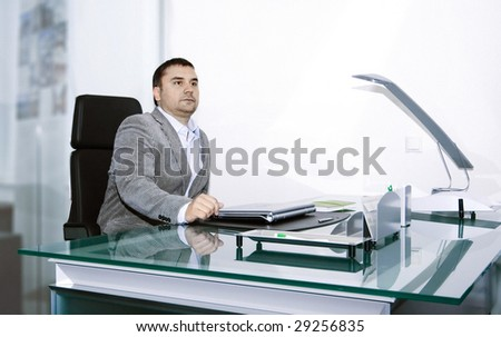 businessmen in  modern office interior  photo - stock photo