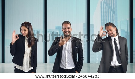 Businesspeople come to agreement in the office - stock photo