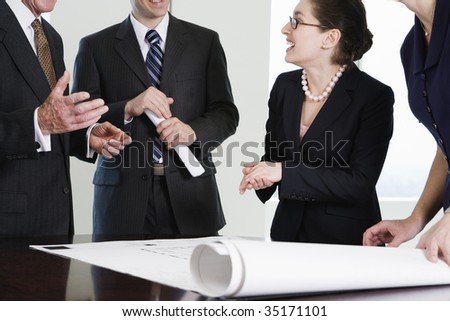 Businesspeople in discussion - stock photo