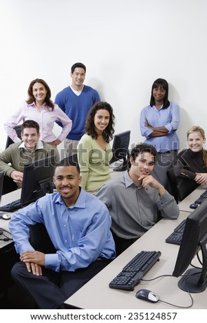 Businesspeople in Training - stock photo