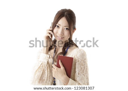 Businesswoman casual clothes - stock photo