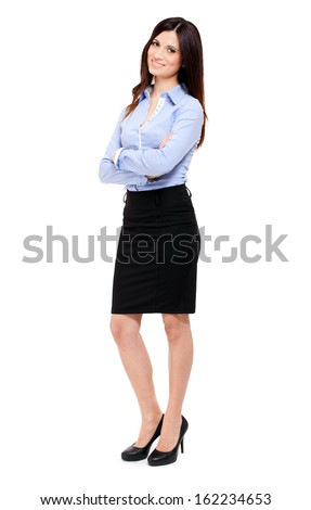 Businesswoman full length portrait - stock photo