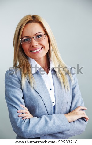 businesswoman in glasses - stock photo