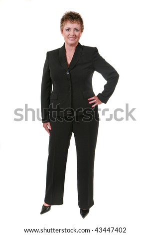 Businesswoman isolated on white - stock photo