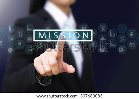 businesswoman , mission concept - stock photo