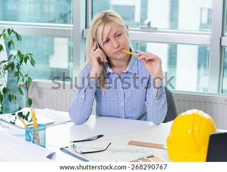 Businesswoman on cell phone  - stock photo