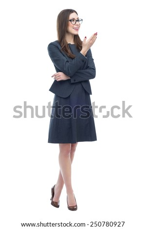 Businesswoman presenting something  - stock photo