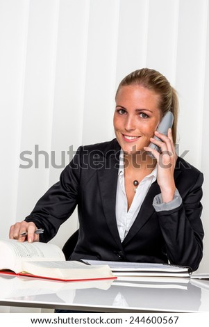 businesswoman sitting in an office. photo icon for managers, independence or lawyer. - stock photo