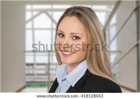 Businesswoman smile. - stock photo