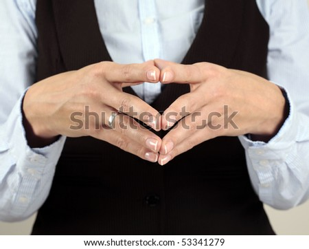 Businesswoman thinking. Body Language - stock photo