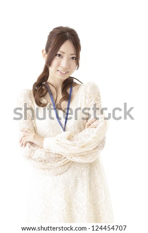 Businesswoman with a casual Clothes - stock photo