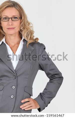 businesswoman with glasses - stock photo
