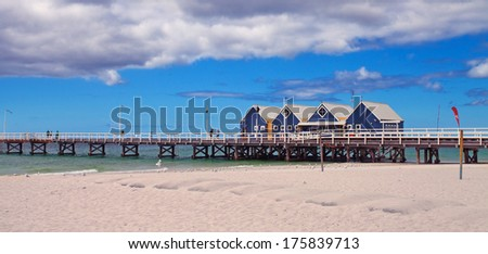 Busselton Jetty, close to Margaret River, Western Australia - stock photo