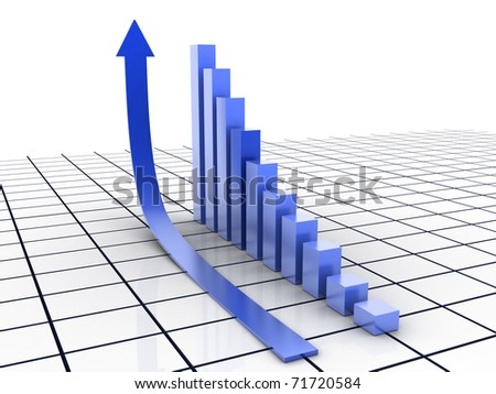Bussiness graph - stock photo