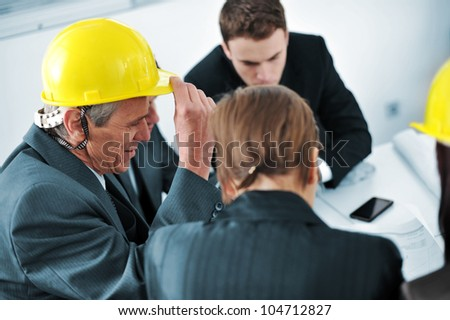 Bussiness people in office - stock photo