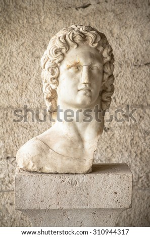 Bust of David in Athens, Greece - stock photo