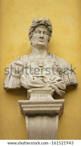 Bust of Emperor Caio in Modena, Italy - stock photo