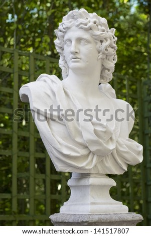 Bust, Versailles gardens - stock photo