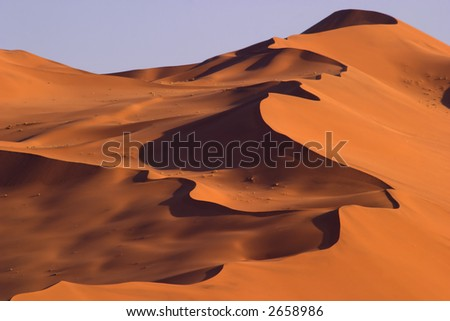 Busy dune in Namibia on the way to Sossusvlei - stock photo