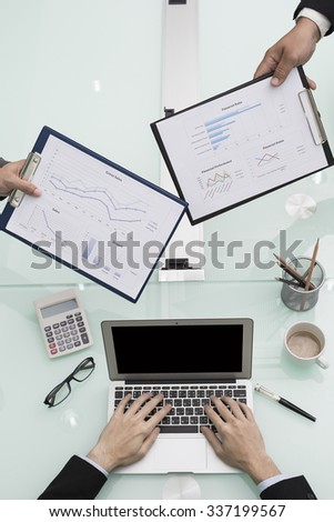 busy office - stock photo