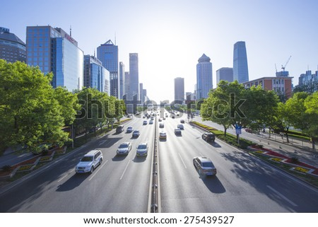 Busy traffic - stock photo