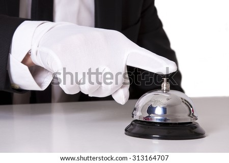 butler bell - stock photo