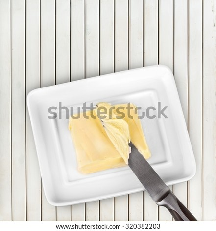 Butter. - stock photo