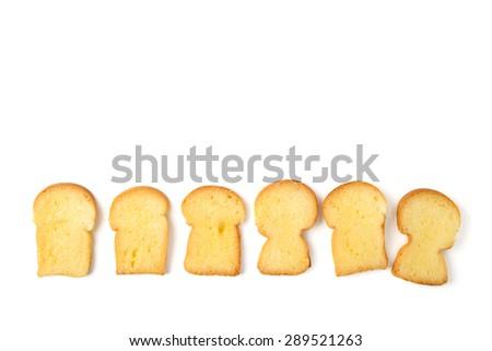 butter bread toast - stock photo