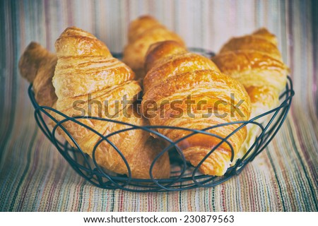 Butter Croissants - stock photo